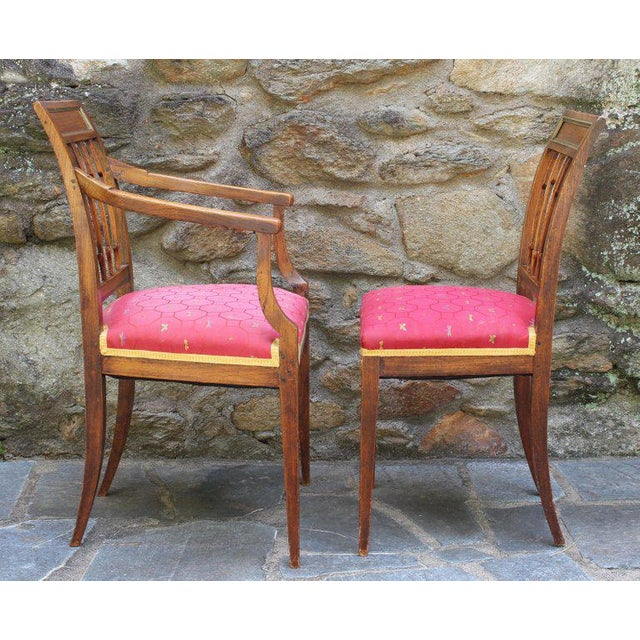 Neoclassical Set of Six Continental Neoclassical Dining Chairs For Sale - Image 3 of 10