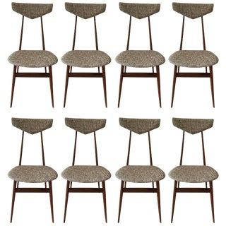 Set of Eight Dining Chairs Attributed to Ico Parisi For Sale
