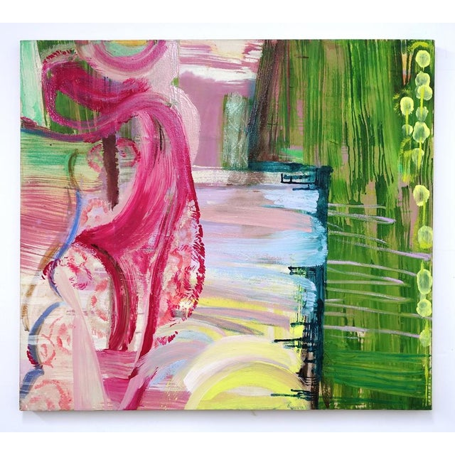 "Molly Herman Molly Herman ""Ars Poetica"" Abstract Painting For Sale - Image 4 of 4"