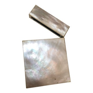 Late 19th Century Antique Victorian Mother of Pearl Card Case For Sale