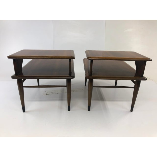 Lane Furniture Vintage Mid Century Modern Step Tables - a Pair - Acclaim by Lane Furniture For Sale - Image 4 of 13