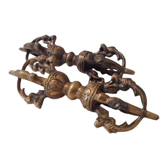 Brass Cambodian Decor - A Pair - Image 1 of 5