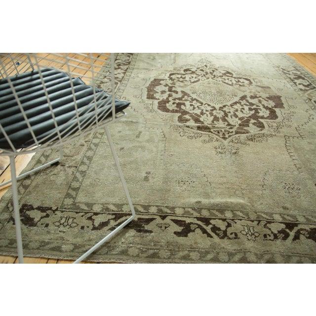 "Vintage Distressed Oushak Carpet - 6'10"" x 10'2"" For Sale - Image 4 of 10"