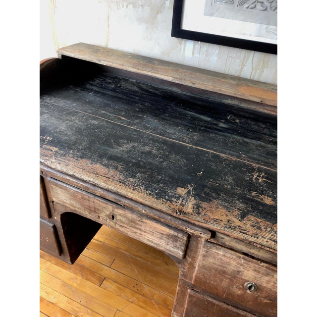 Black Rustic Tuscan Office Desk For Sale - Image 8 of 11