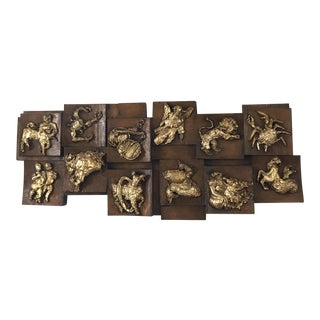 Mid-Century Modern Finesse Originals Zodiac Relief For Sale