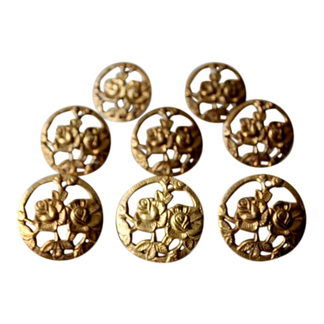 Vintage Brass Napkin Rings - Set of 8 For Sale