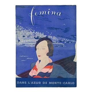 """Femina, January 1932"". Original French Fashion Magazine Cover For Sale"