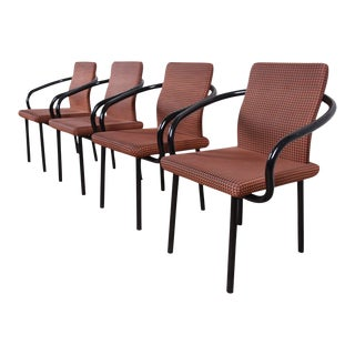 Ettore Sottsass for Knoll Mandarin Armchairs - Set of 4 For Sale