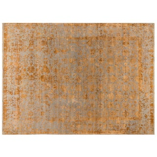 Stark Studio Rugs Contemporary New Oriental 50% Wool/50% Silk - 8′9″ × 11′10″ For Sale