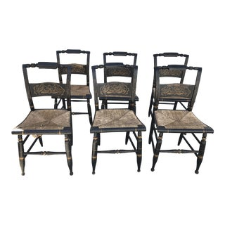 1960s Vintage Baltimore Style Dining Chairs- Set of 6 For Sale