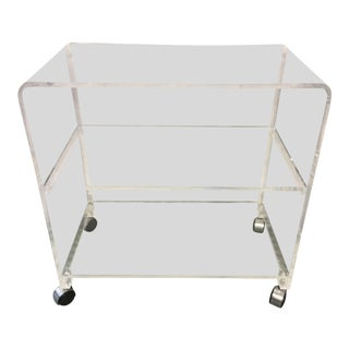 1970s Hollywood Regency Lucite Cart For Sale
