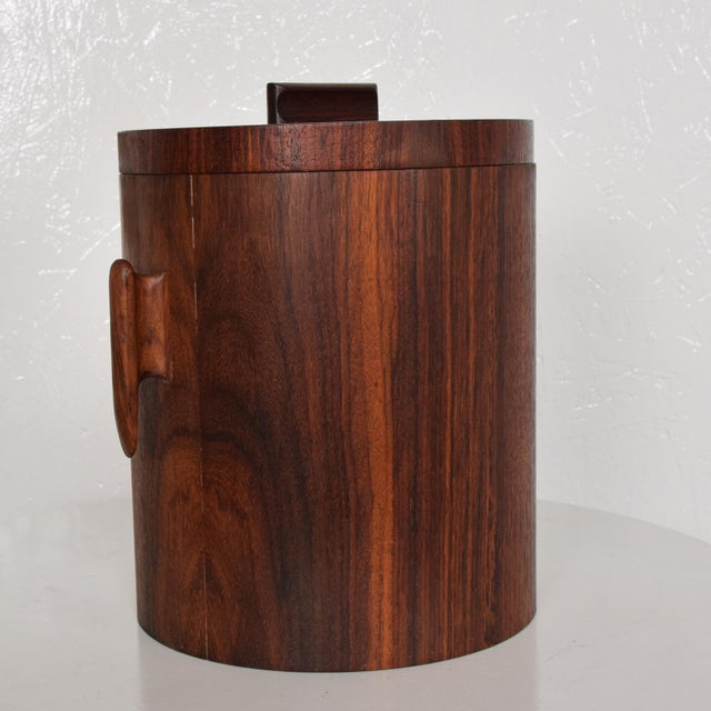 1960s Mid-Century Modern Rosewood Ice Bucket For Sale - Image 5 of 11