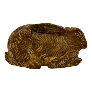 Sarreid Hand Carved Wooden Rabbit For Sale