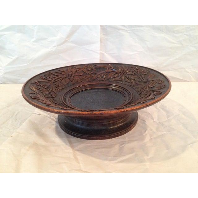 Antique Carved Wood Bowl - Image 2 of 6