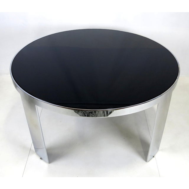 1970s Polished Nickel Center Table by Pace For Sale - Image 5 of 5