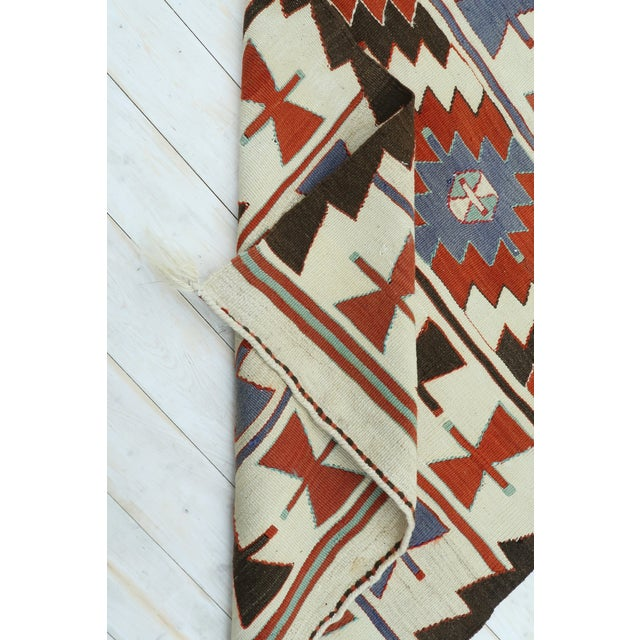"Vintage Turkish Kilim Runner-3'5'x10'11"" For Sale - Image 12 of 13"