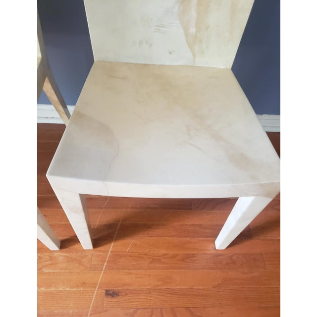1980s Vintage Karl Springer Jmf Chairs- A Pair For Sale - Image 9 of 13