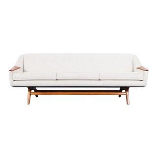 "1950s Danish Modern ""Wing"" Sofa For Sale"