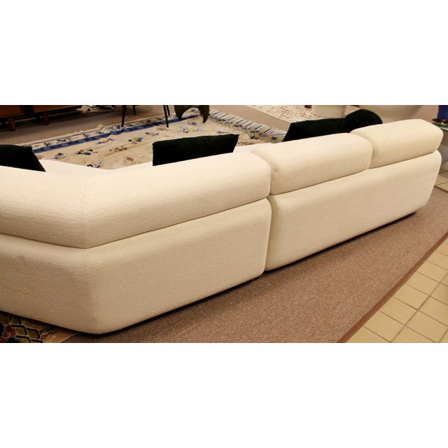 Preview Contemporary Modern Kagan Style Preview 3 Pc Curved Sectional Sofa 1980s For Sale - Image 4 of 11