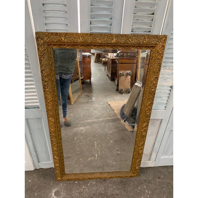 18th Century French Louis XVI Giltwood Mirror For Sale - Image 9 of 9