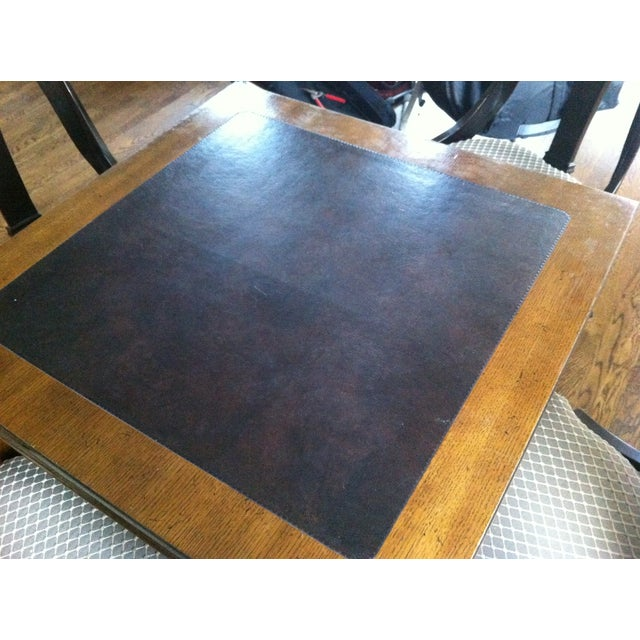 Tomlinson Leather Top Game Table - Image 5 of 6