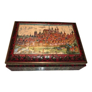 Vintage Lebkuchenfabrik Schmidt Nürnberg German Tin For Sale