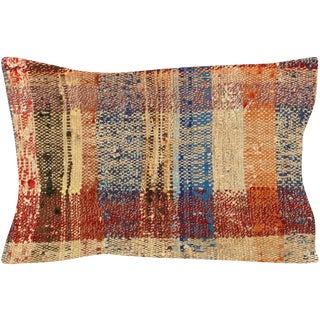 "1960s Turkish Hemp Pillow - 12"" X 20"" For Sale"