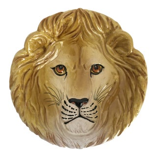 Mid-Century Modern Golden Lion Bowl, Made in Italy For Sale