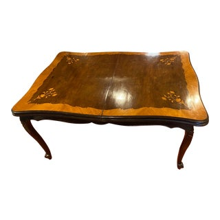 Antique Inlaid Dining Table For Sale