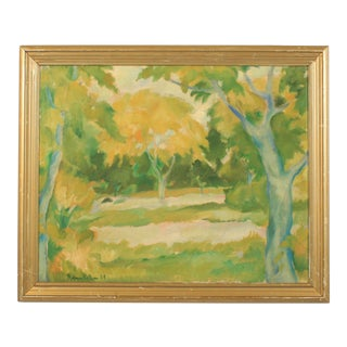1924 Hjalmar Nielsen Expressionist Forest For Sale