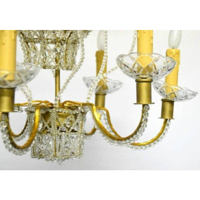 Hollywood Regency Baloon Form Chandelier For Sale - Image 3 of 7