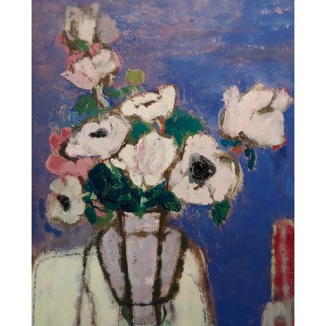 Sarkis Sarkisian Still Life of White Flowers Oil Painting For Sale - Image 4 of 10