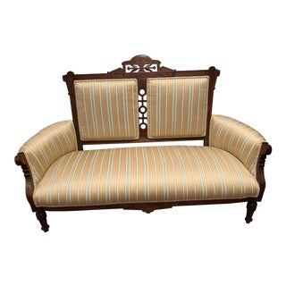 Vintage Eastlake Victorian Settee For Sale