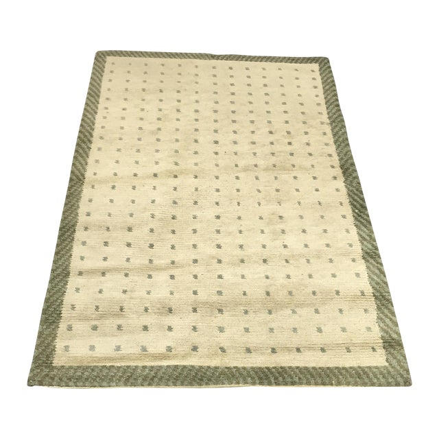 """Wool Cotton Rug From Nepal - 5'6"""" X 3'7"""" - Image 1 of 5"""