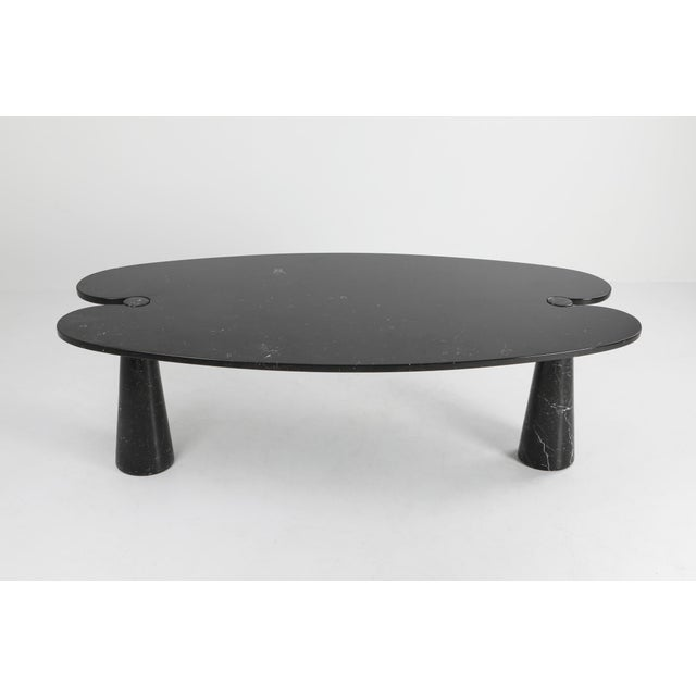 Postmodern 1970s Mangiarotti Black Marble Dining Table for Skipper For Sale - Image 3 of 12