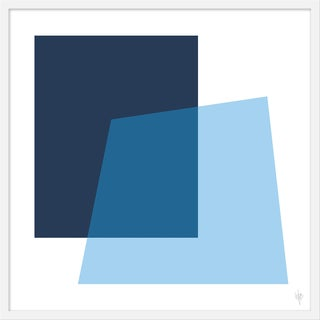 "Medium ""Intersection Navy and Pale Blue"" Print by Wendy Concannon, 31"" X 31"" For Sale"