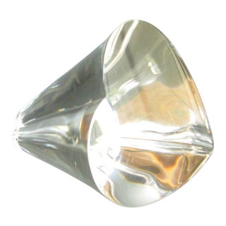 Vintage Steuben Glass 3-D Crystal Heart Paperweight For Sale