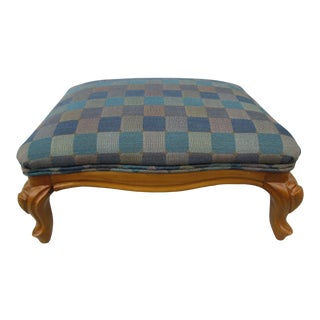 Traditional Low Footstool For Sale