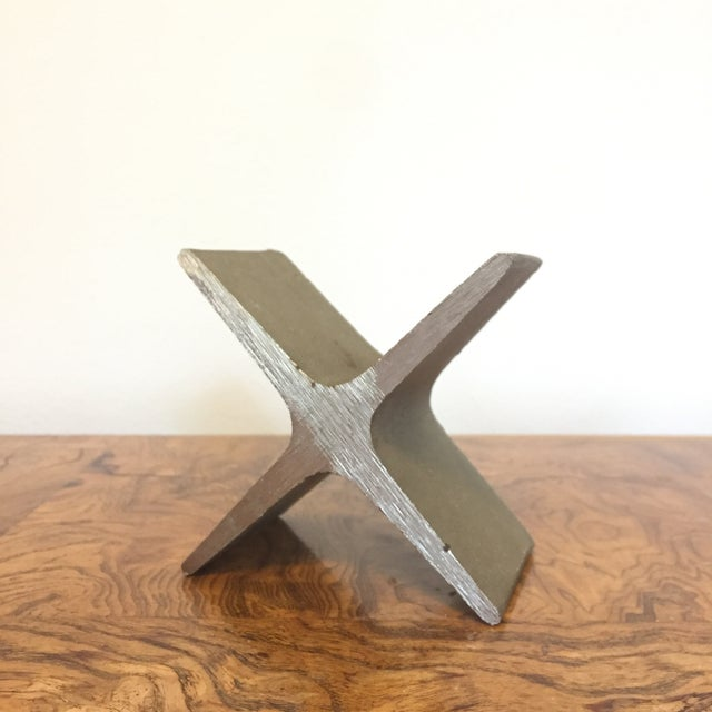 Silver Carl Aubock X Bookend For Sale - Image 8 of 8