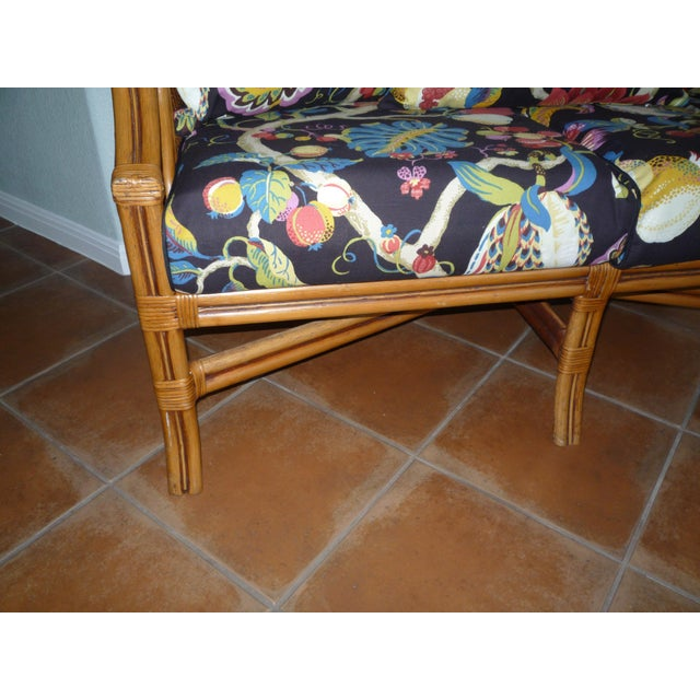 Tommy Bahama Style Bentwood Rattan Settee - Image 7 of 9