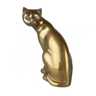 Handcrafted Solid Brass Cat
