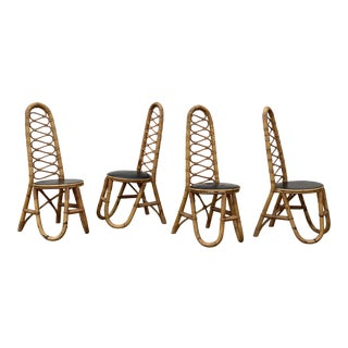 Italian Bamboo Dining Chairs- Set of 4 For Sale