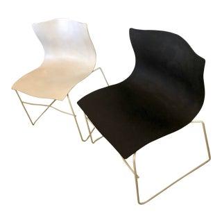 Knoll International X Massimo Vignelli Designs Handkerchief Chair - a Pair For Sale