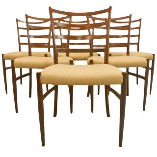 Danish Mid-Century Modern Ladderback Dining Chairs - Set of 6