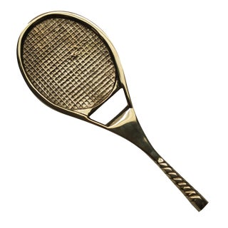 Brass Tennis Racket Bottle Opener