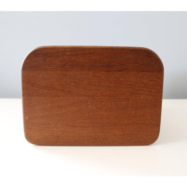 Danish Modern Kalmar Teak Wood Tambour Storage Box CD Organizer Danish Modern For Sale - Image 3 of 8