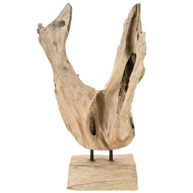Indonesian Driftwood Fragment On Stand - Image 1 of 4