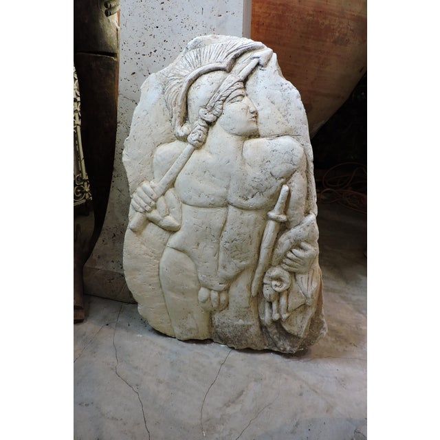 Bas Relief Carving Of A Roman Soldier