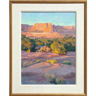 "Richard Hilker ""Canyonlands Sunset"" Original Oil Painting on Canvas For Sale"