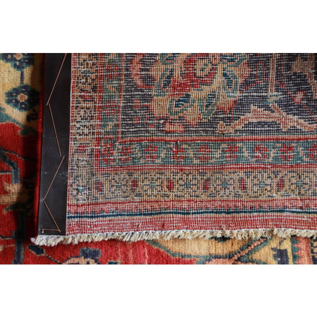 Vintage Hand-Woven Persian Rug - 7′4″ × 8′12″ - Image 8 of 9